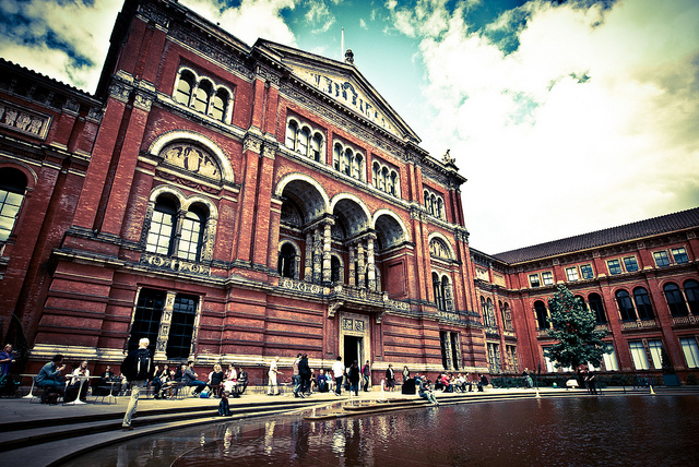 The Victoria & Albert Museum in London, England.  Image by pittaya