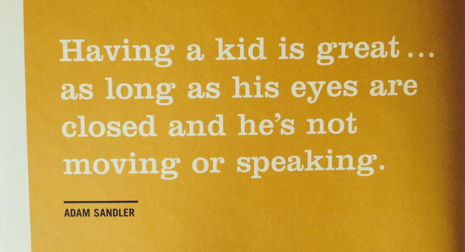 adam sandler kid quote