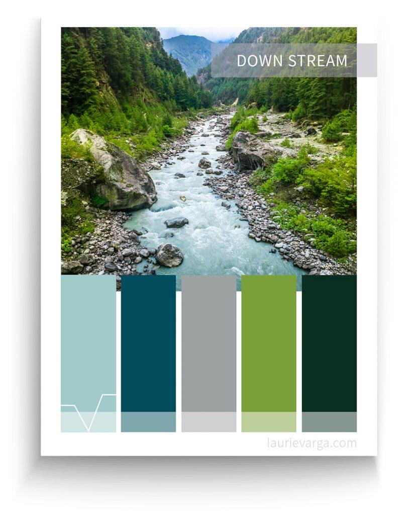 Graphic design color palette