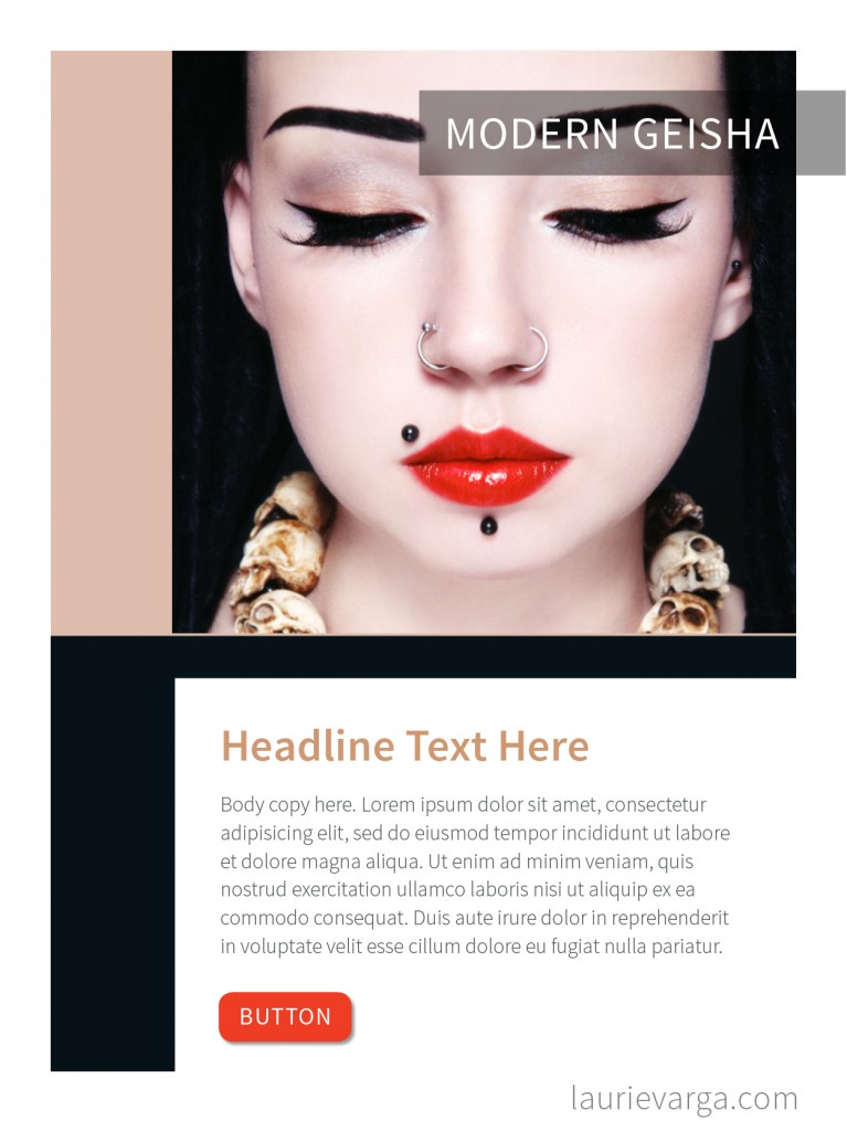 Modern Geisha Color Palette Layout 1 | laurievarga.com