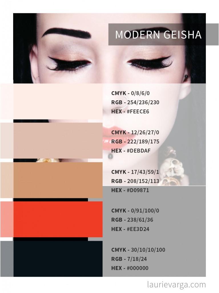 Modern Geisha Color Palette Codes | laurievarga.com
