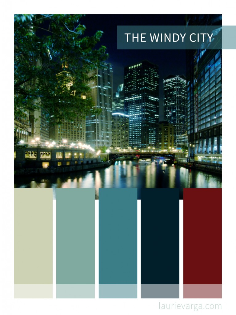 Color Palette: The Windy City | laurievarga.com