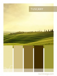 Colour palette of the week : Tuscany