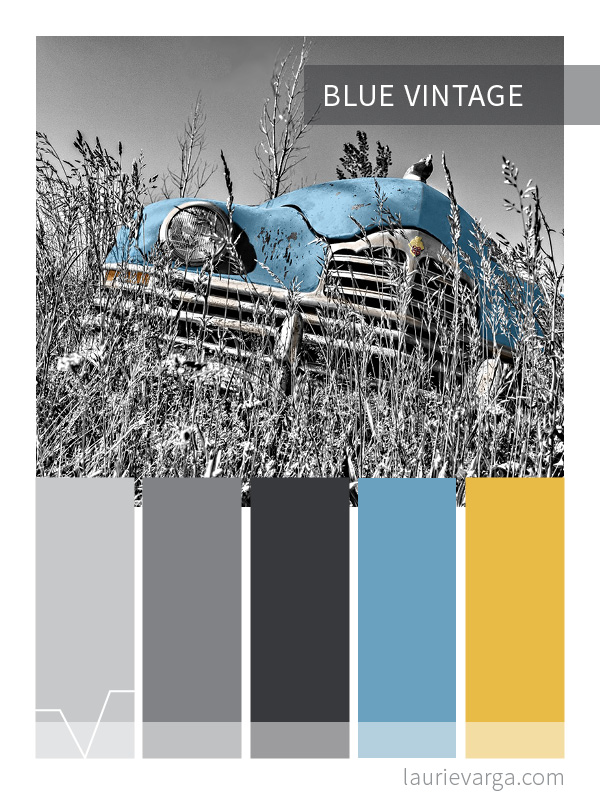 Blue Vintage Color Palette | laurievarga.com