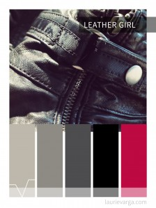 Colour palette of the week: Leather Girl