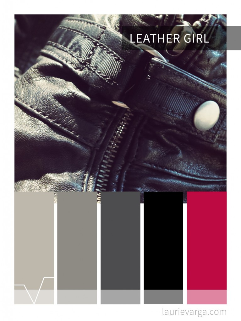 colour palette | leather girl | laurievarga.com